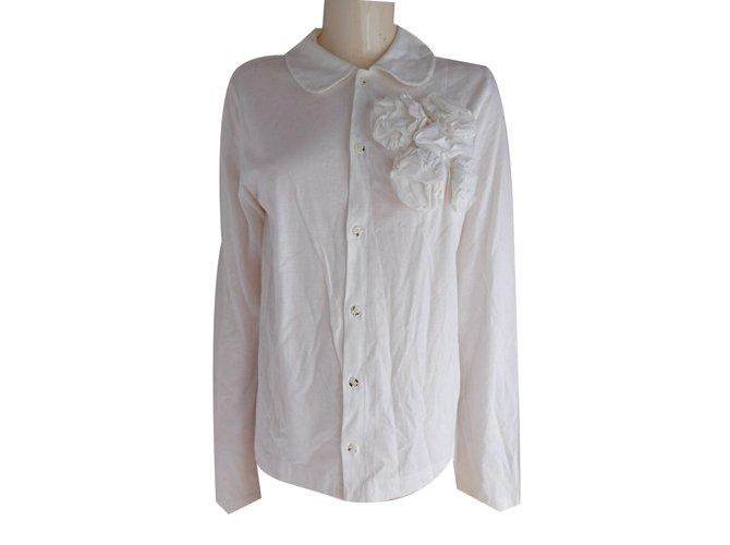 Tops Comme Des Garcons Tops Coton Blanc ref.79999