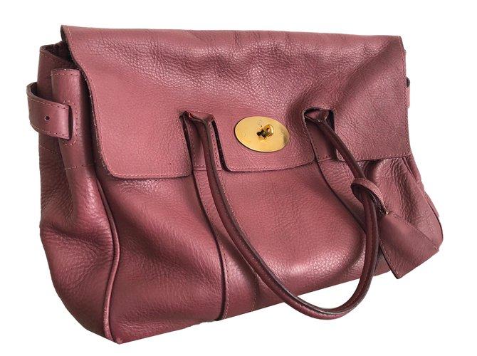 Mulberry Handbags Handbags Leather Prune ref.80125