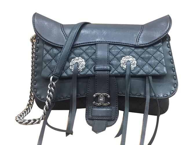 Chanel Paris Dallas Handbags Leather Black Ref 80199