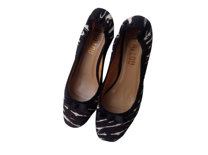 Ref Marque Bibi Heels Leather cream 80222 Black Lou Autre SUMpzV