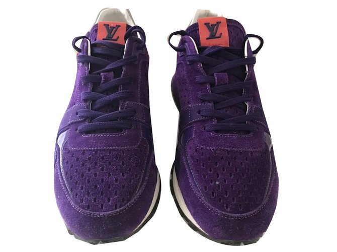 3e1643f5d262 Louis Vuitton Louis Vuitton run away purple sneakers trainers size 6 eu 39  Sneakers Suede