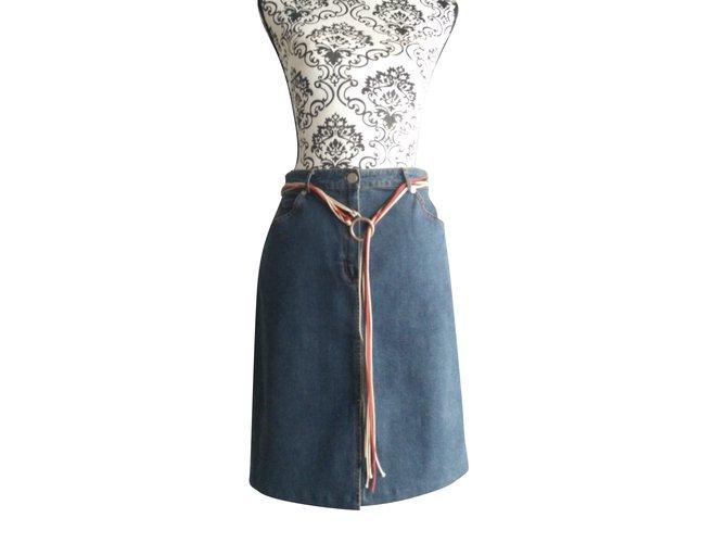 Burberry Skirts Skirts Denim Blue ref.80303