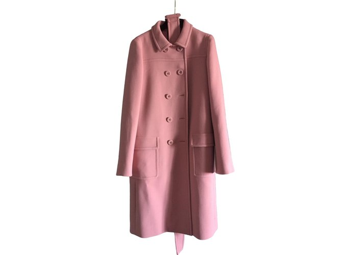 Bottega Veneta Coat Coats, Outerwear Wool Pink ref.80451