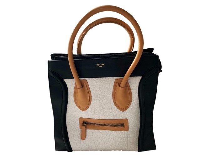 7d71e9915a00 Sacs à main Céline Luggage Cuir Multicolore ref.80455 - Joli Closet