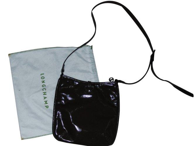 ref marrone in Longchamp pelle Borse 80553 scuro 4BCvzSP