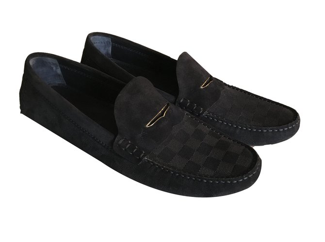 614b4da0185 Louis Vuitton Loafers Slip ons Loafers Slip ons Other Navy blue ref.80593