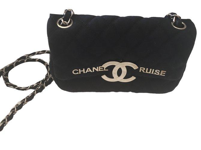 Sacs à main Chanel Sacs à main Coton Bleu ref.80719