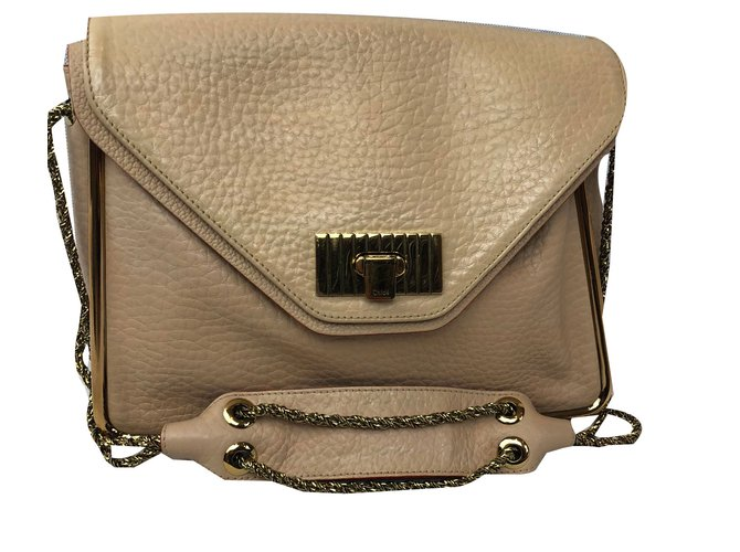c2d886b84 Chloé Handbags Handbags Leather Beige ref.80724 - Joli Closet