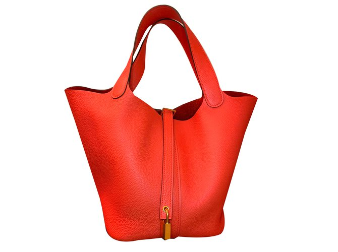 Sacs à main Hermès Sacs à main Cuir Orange ref.80773