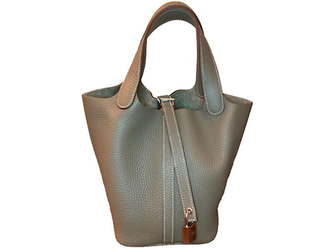 Sacs à main Hermès Picotin 18 Taurillon Clemence Cuir Multicolore ref.80775