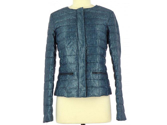Manteaux CAROLL Doudoune   Parka Polyester Bleu Marine ref.80795 ... 3e145588df9