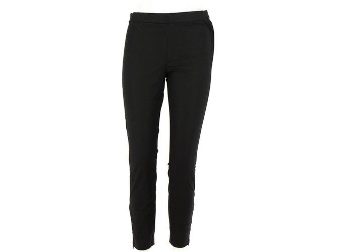 Lacoste Black Cotton Trousers