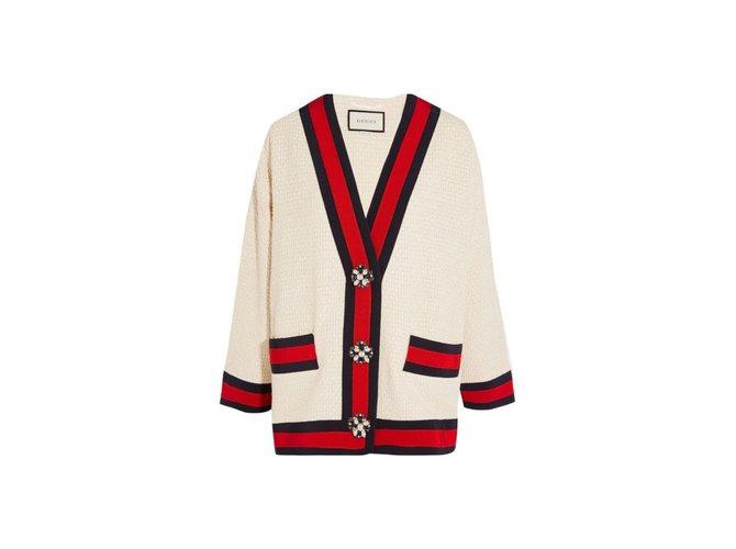 Vestes Gucci Vestes Coton Blanc cassé ref.76237