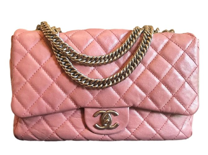 Chanel Cruise collection Limited Edition Classic Pink Flap bag Handbags  Leather Pink ref.81144 d03610420