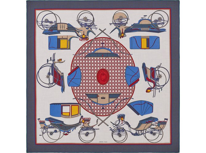 Foulards Hermès Foulard Cachemire Multicolore Ref81551 Joli Closet