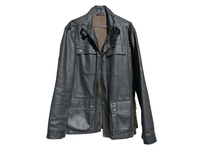 Autre Marque Men Coats Outerwear Men Coats Outerwear Cloth Black ref.81558