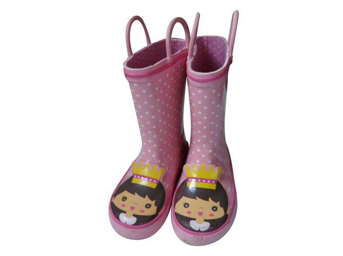 Autre Marque boots Boots Rubber Pink ref.81599
