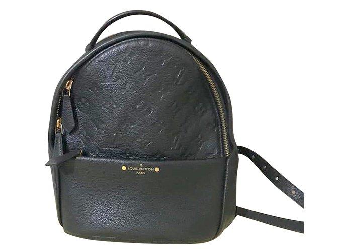 cd4fb0258f7d Louis Vuitton Sorbonne Backpacks Leather Black ref.81613 - Joli Closet