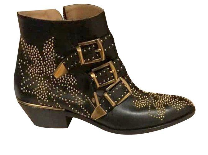 Chloé Susanna Boots Leather Black ref.81791