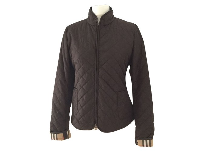 Burberry Jackets Jackets Polyamide Dark brown ref.82134
