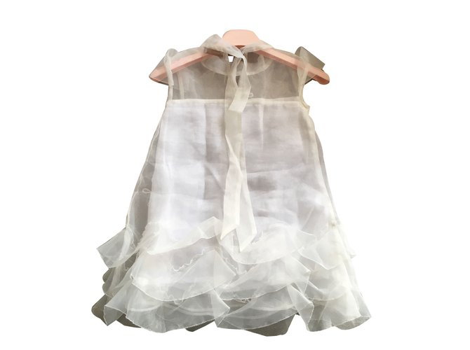 Robes fille Blumarine Robes fille Satin Blanc ref.82172