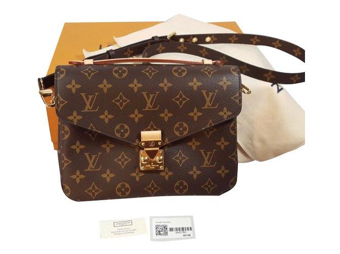 Sacs à main Louis Vuitton Sac à main Toile Marron ref.82362