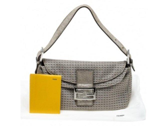 a912aa207685 Fendi Zia tube baguette Handbags Suede