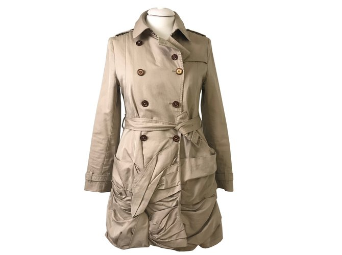 Burberry Burberry trench coat Coats, Outerwear Cotton Beige ref.82645