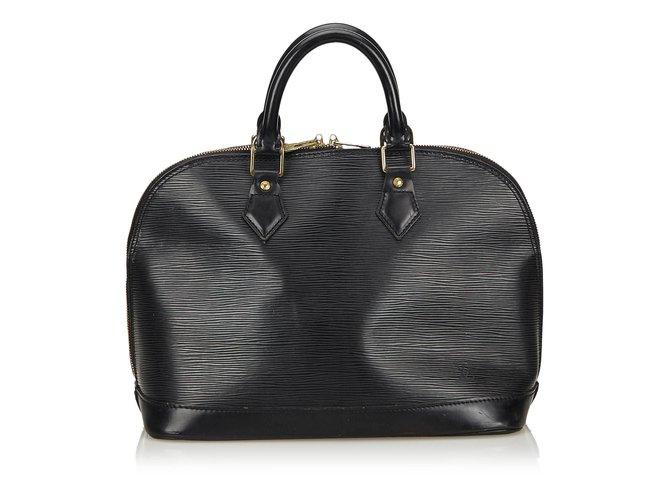 bdd60e48a617 Louis Vuitton Epi Alma PM Handbags Leather Black ref.82759 - Joli Closet