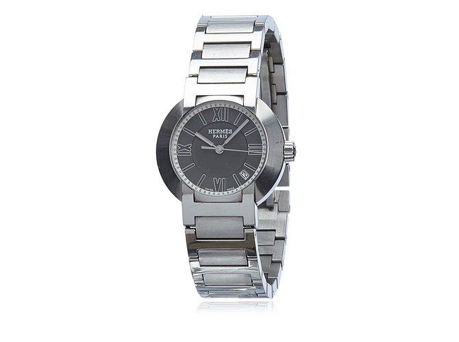 62ae4c71ab13 Montres Hermès Nomade Watch Autre,Acier,Métal Argenté ref.82775 ...