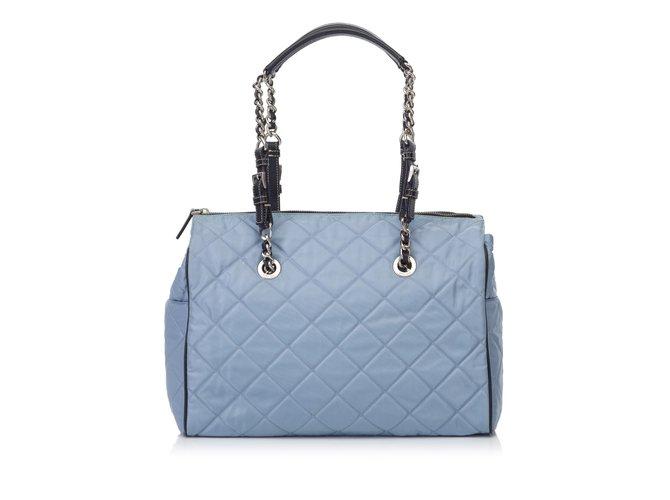 767d581560e Prada Quilted Nylon Shoulder Bag Handbags Leather,Other,nylon,Cloth Blue, Light