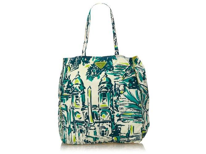 7544191a29 Prada Printed Nylon Tote Bag Totes Nylon
