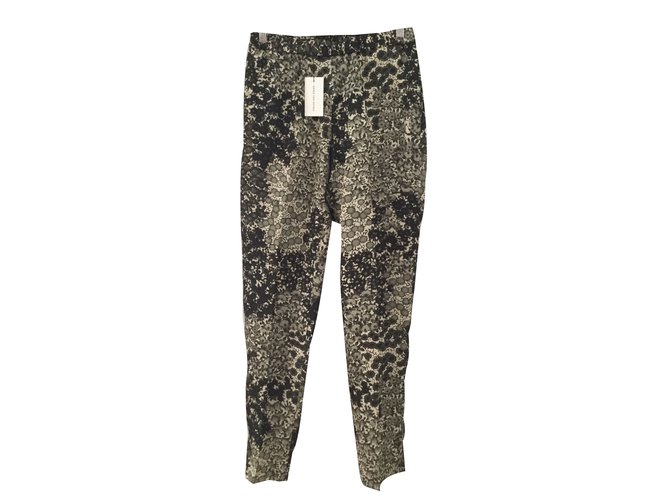Pantalons Dries Van Noten Pantalons Viscose Multicolore ref.83016