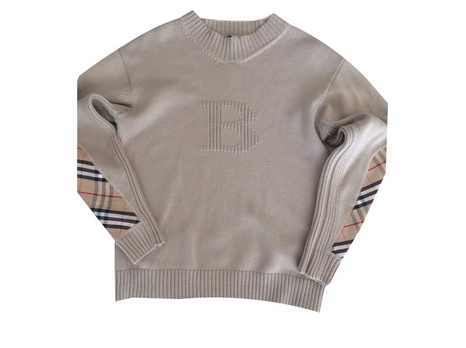 Pulls, Gilets Burberry Pull Autre Beige ref.83303