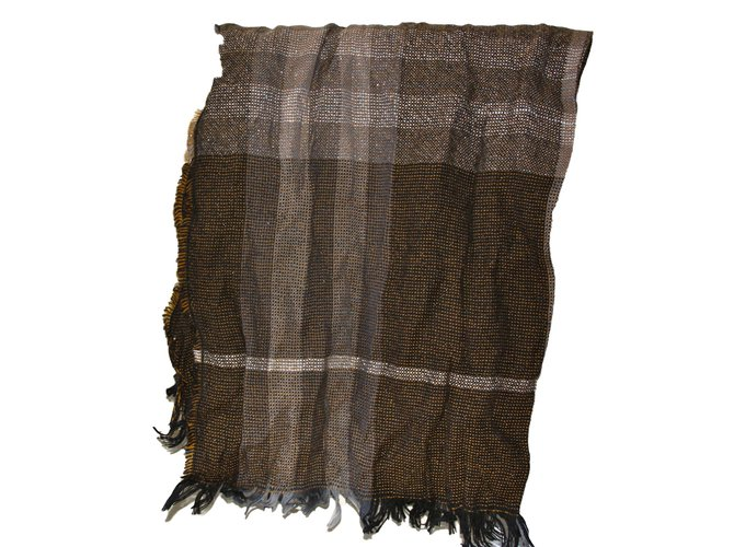 Burberry escharpe scarf cashmere new with tag Scarves Cashmere Brown ref.83430