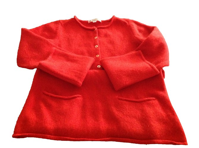 Bonpoint Sweaters Sweaters Wool Red ref.83455