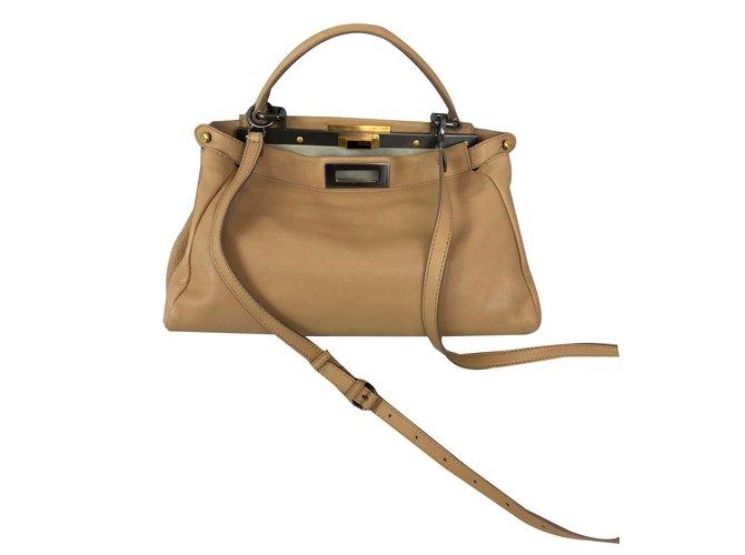 5452e00890bf Fendi Peekaboo Handbags Leather Beige ref.83489 - Joli Closet