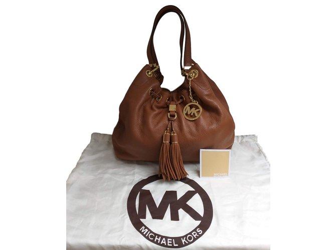 4dc17c9af0a7 Michael Kors Handbags Handbags Leather Cognac ref.83506 - Joli Closet