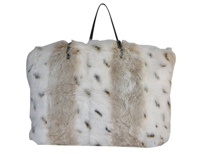 baec348aa44 Fendi Fendi Fur Tote Bag Handbags Leather,Fur Multiple colors ref.83512