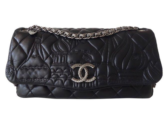 Sacs à main Chanel SAC CHANEL PARIS-MOSCOU Cuir Noir ref.83589