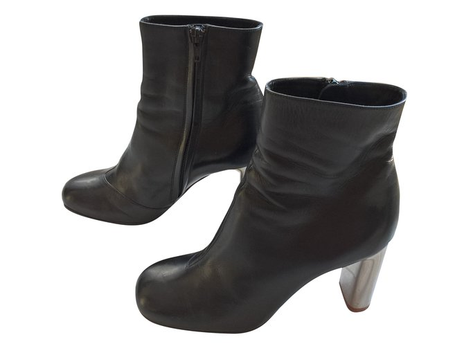 Céline Ankle boots Ankle Boots Lambskin Black ref.83663