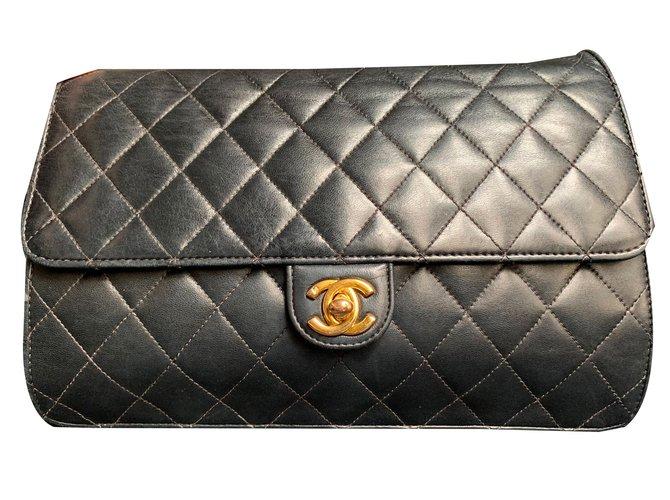 Chanel Handbags Handbags Leather Black ref.83834