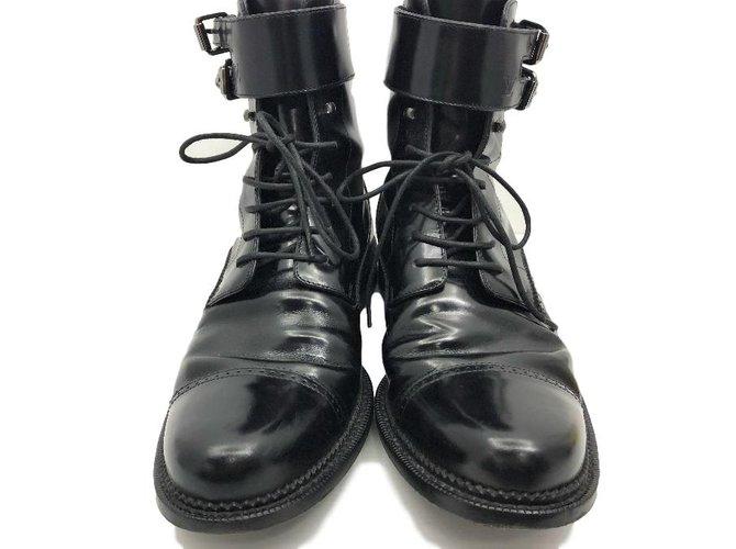 Bottes, boots Louis Vuitton Bottes, boots Cuir Noir ref.83855 - Joli ... ae454aebb04