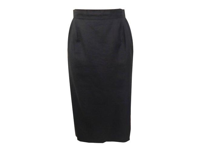 Chloé Skirts Navy blue Linen  ref.83894