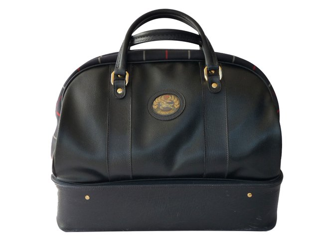 Burberry Travel bag Travel bag Synthetic Navy blue ref.84123