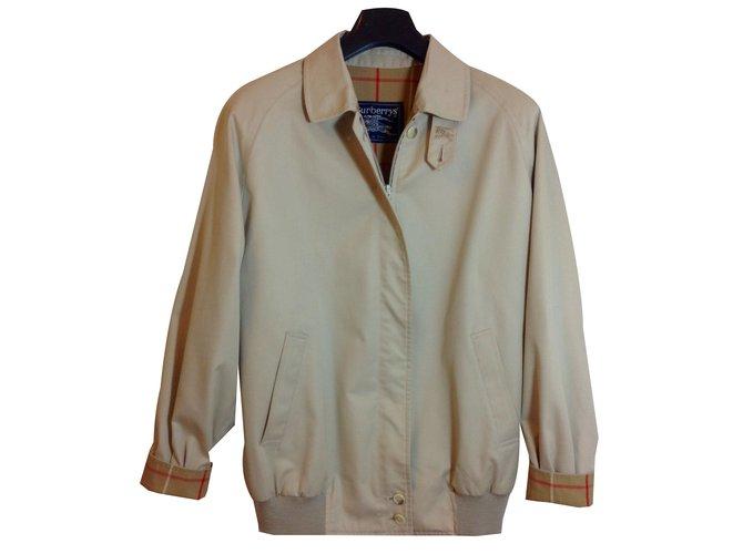 Burberry Vintage Jacket Jackets Cotton,Polyester Beige ref.84194