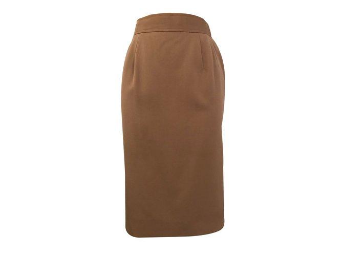 Chloé Skirts Skirts Wool Beige ref.84203