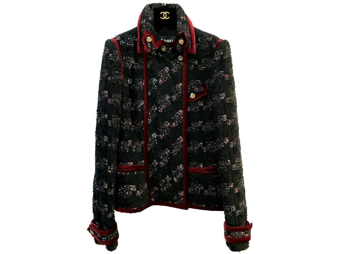 Vestes Chanel Vestes Tweed Multicolore ref.84205