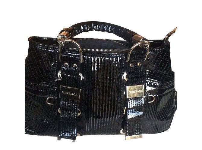 Gianni Versace Handbag Handbags Patent leather Black fe19eb6665cad