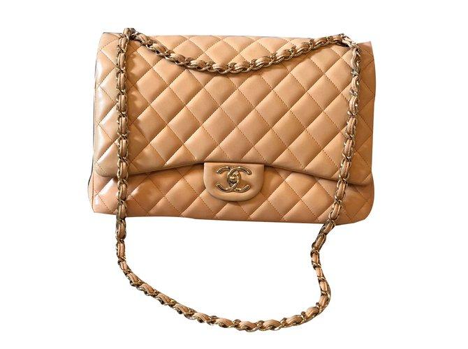 Sacs à main Chanel Sac à main Cuir Beige ref.84444